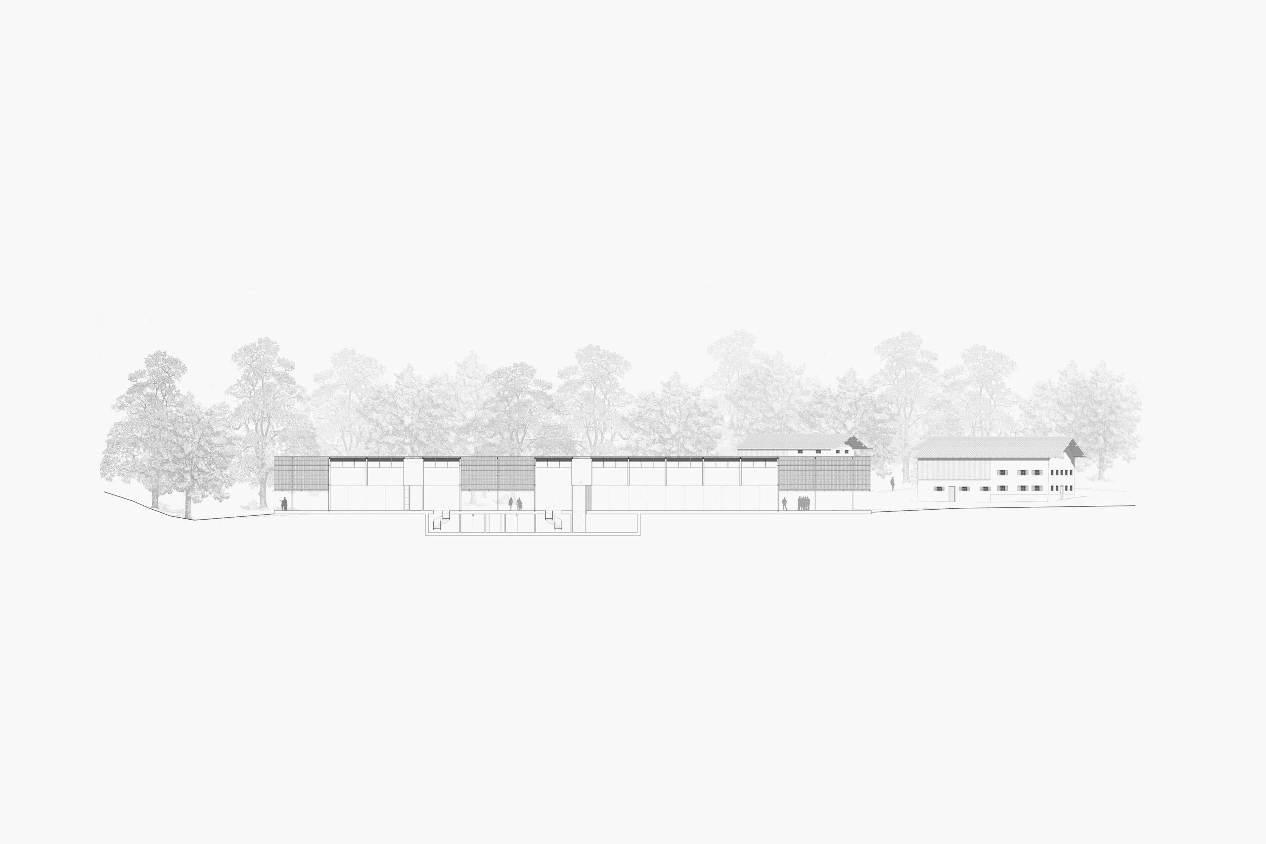 Michael-Becker-Architects-Architekten-Bauernhausmuseum-Ammerang-Laengsschnitt-klein