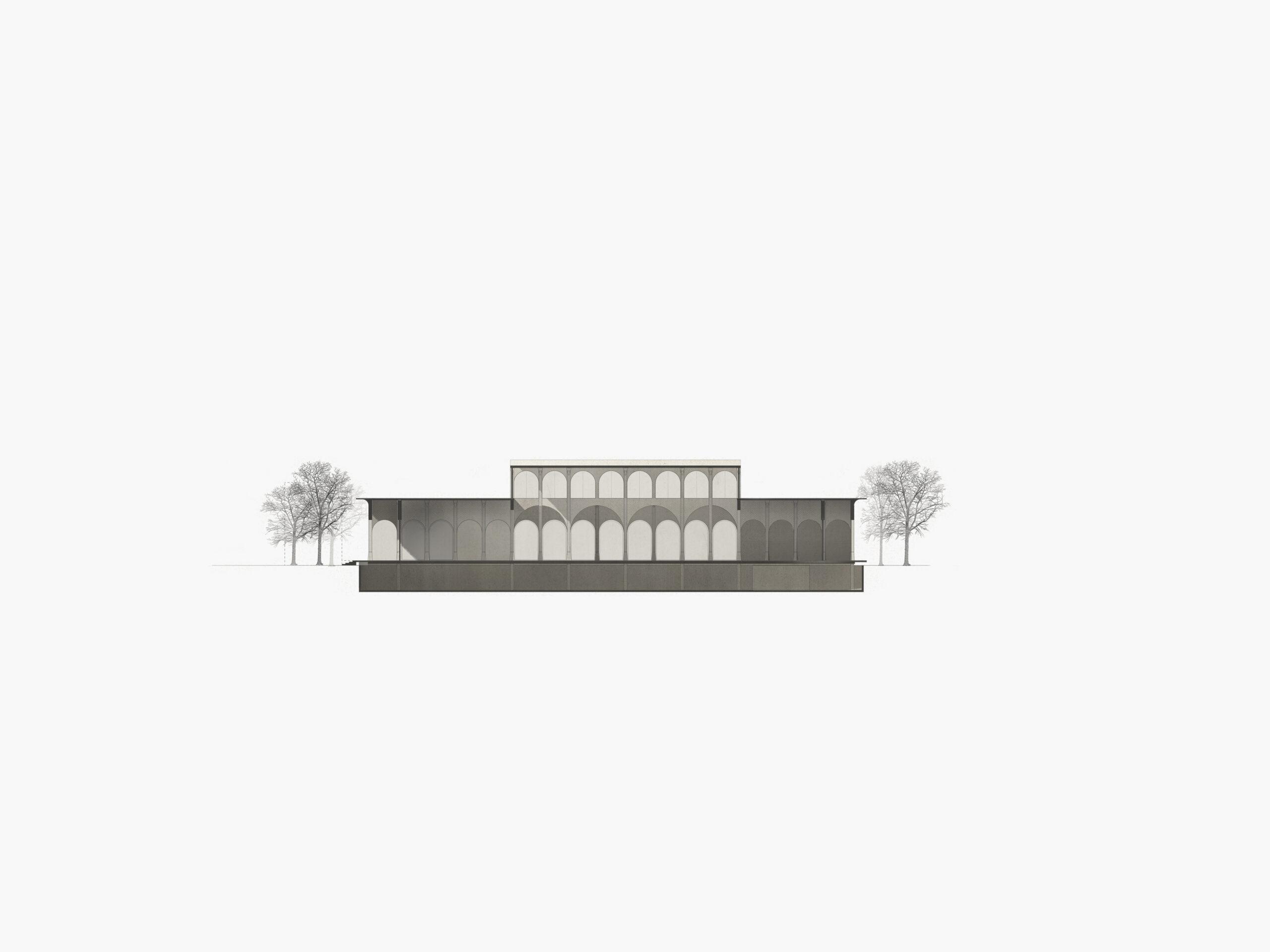 Michael-Becker-Architects-Architekten-Verbrauchermarkt-Rottenburg-Querschnitt
