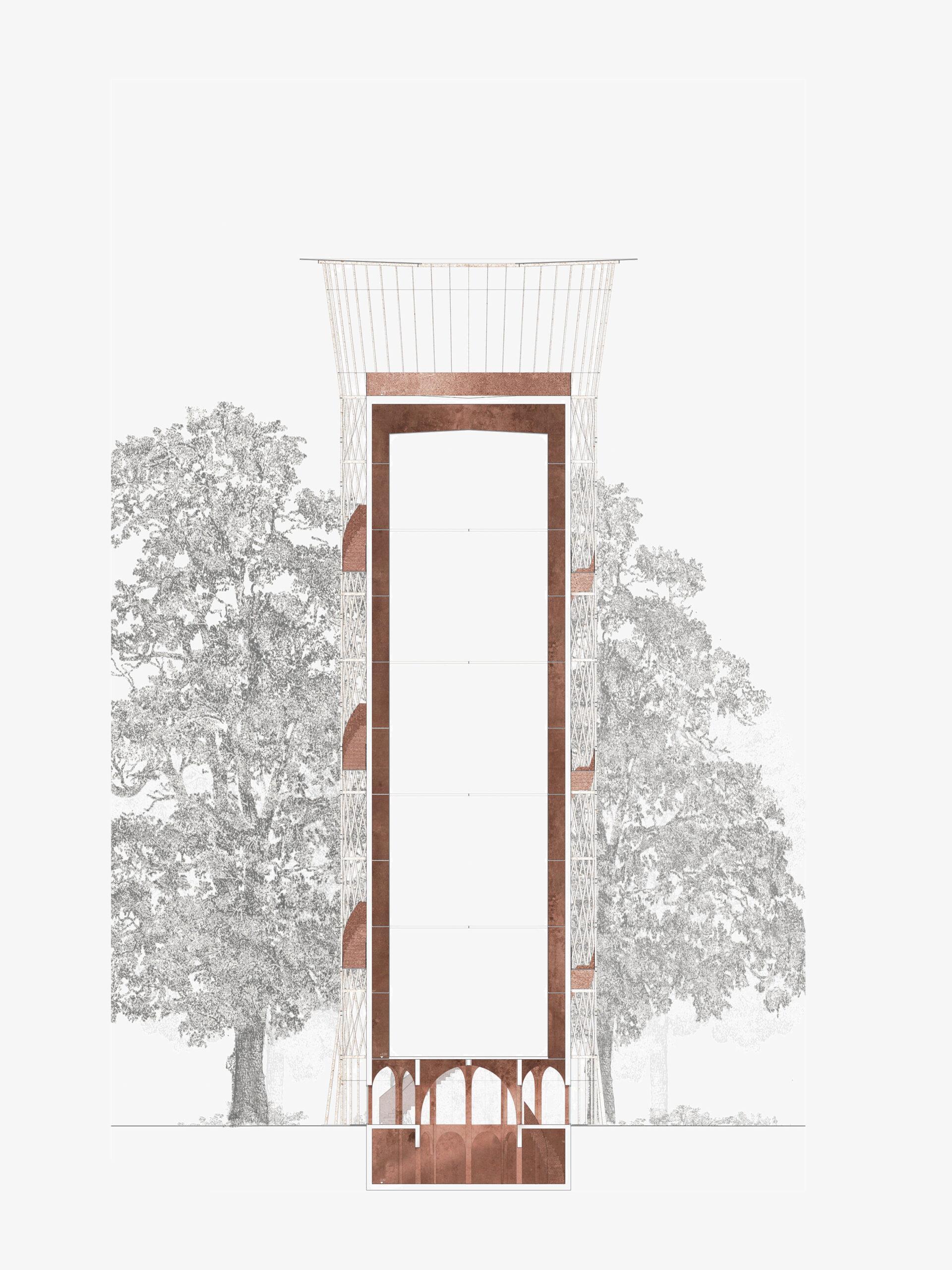 Michael-Becker-Architects-Architekten-Wasserturm-Donauwoerth-Schnitt